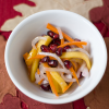 Thumbnail image for Daikon, Carrot, Persimmon, and Pomegranate Sunomono