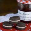 Thumbnail image for Dark Chocolate Strawberry Cookie Sandwiches for Valentine's Day