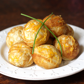 Thumbnail image for Simple Cheesy Æbleskivers + A Giveaway!
