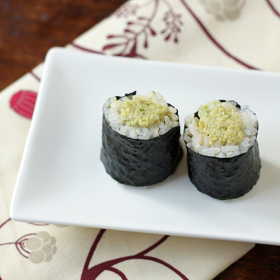 Thumbnail image for Leftover Edamame Dip Sushi + Top Secret Julienne Trick