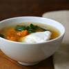 Thumbnail image for Miso Soup With Butternut Squash, Poached Eggs, & Spinach