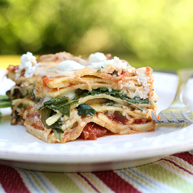 Thumbnail image for Spinach Goat Cheese Lasagna + Pasta Party Giveaway!