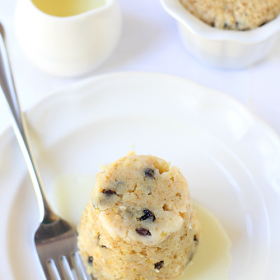 Thumbnail image for Spotted Dick Steamed Pudding With White Chocolate Butter Sauce