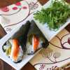 "Thumbnail image for Smoked Salmon, Cream Cheese, & Jalapeno Temaki Sushi—aka, ""How to make temaki sushi out of a bagel."""