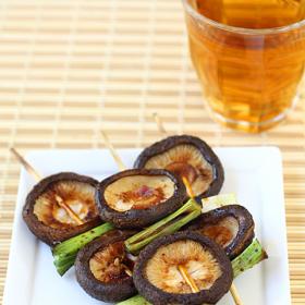 Thumbnail image for Yaki Shiitake (Shiitake & Scallion Yakitori) for The Mushroom Channel
