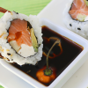 Thumbnail image for Habanero Soy Sauce—Sushi served with a souvenir from Cancun.
