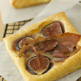 Thumbnail image for Fig, Brie, & Prosciutto Tarts