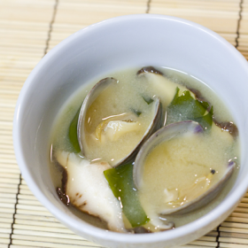 Thumbnail image for Miso Soup with Clams, Shiitake Mushrooms, & Wakame