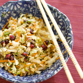 Thumbnail image for Chef Masa's Pomegranate Cabbage Slaw at the Dole Blogger Health Summit