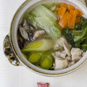 Thumbnail image for Tori No Mizutaki—Chicken & Vegetable Hot Pot