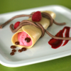 Thumbnail image for Raspberry Crème Fraiche Crepes with Maple Pearls and Chocolate Bucatini from Salty Seattle