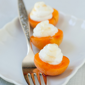 Thumbnail image for Fresh Apricots with Goat Cheese Mousse