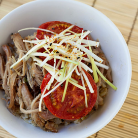 Thumbnail image for Pulled Pork & Roasted Tomato Donburi (Rice Bowl) à la Ivan Ramen
