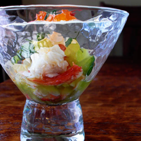 Thumbnail image for Bringing Poached Alaskan King Crab Salad to the Made in America Dinner Party