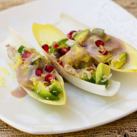 Thumbnail image for Giving Thanks With Avocado, Crab, and Pomegranate Salad