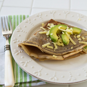 Thumbnail image for Buckwheat Crêpes with Avocado & Aged Cheddar Cheese