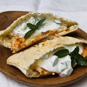 Thumbnail image for Grilled Barramundi Pita Sandwich with Cucumber Yogurt Sauce