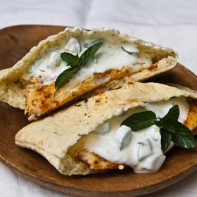 Thumbnail image for Grilled Barramundi Pita Sandwich with Cucumber Yogurt Sauce