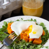 Thumbnail image for Roasted Sweet Potato Sunny-Side Up Salad with Ginger Sesame Vinaigrette
