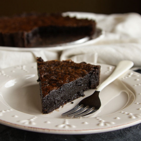 Thumbnail image for Chocolate Chess Pie (with a Chocolate Almond Crust!)