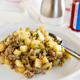 Thumbnail image for Pork and Parsnip Hash for Cutco Fall Harvest + A Giveaway!