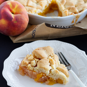 Thumbnail image for Brown Bag Baked Peach Pie (or Pie-bbler?)