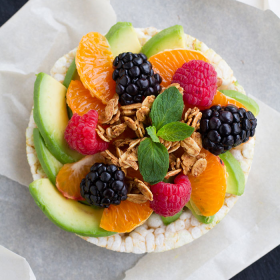 Thumbnail image for Fruity California Avocado Rice Cakes