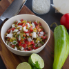 Thumbnail image for Roasted Hatch Chile Pico de Gallo for National Knife Day!