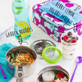 Thumbnail image for Garden Noodles & Greek Dip & Parfaits, Oh My! Refresh Your Bento Routine