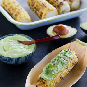 Thumbnail image for Grilled Corn with California Avocado Crema