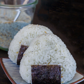 Thumbnail image for Shiso Goma Shio Onigiri (Shiso and Sesame Salt Rice Balls)