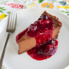 Thumbnail image for Chocolate Truffle Pie with Triple Berry Sauce