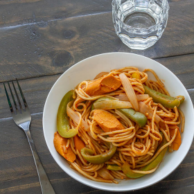 Thumbnail image for Japanese Spaghetti Napolitan (Ketchup Spaghetti)