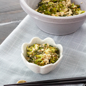 Thumbnail image for Roasted Broccoli Shira-ae (Roasted Broccoli in Tofu Dressing)