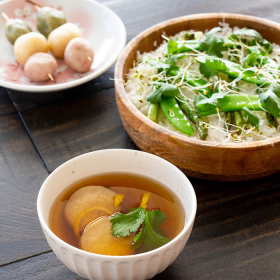 Thumbnail image for Eryngii Suimono (Clear Soup with King Oyster Mushrooms)