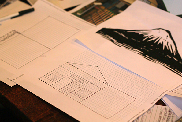 Drawing up the house plans
