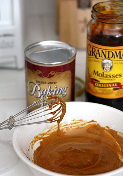 mixing molasses mixture
