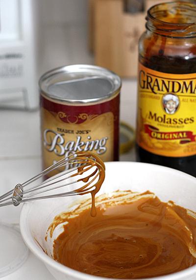 mixing molasses mixture