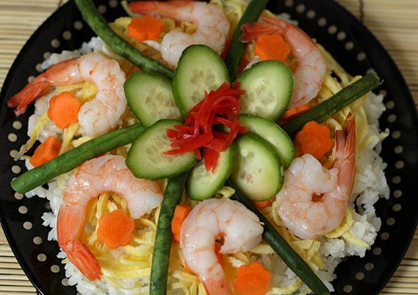 Chirashi Sushi Closeup