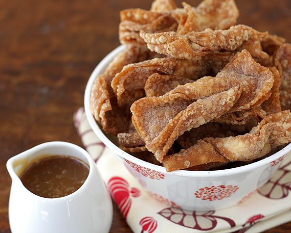 Churro Wontons & Salted Butter Caramel Dipping Sauce 2