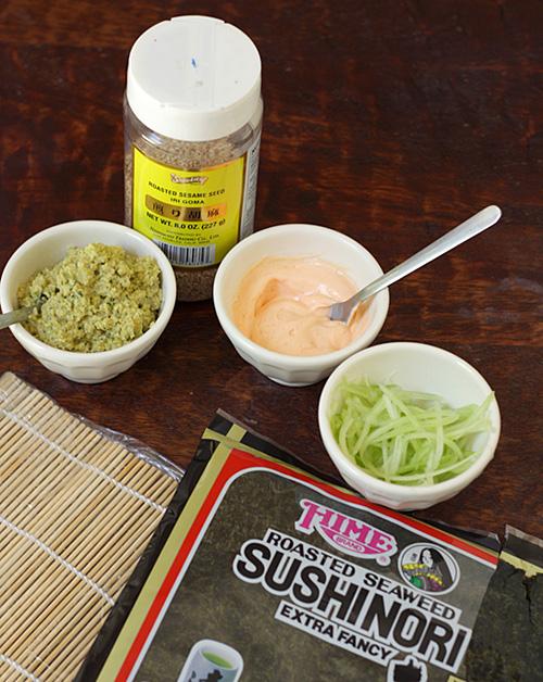 Edamame Sushi Mis-en-place