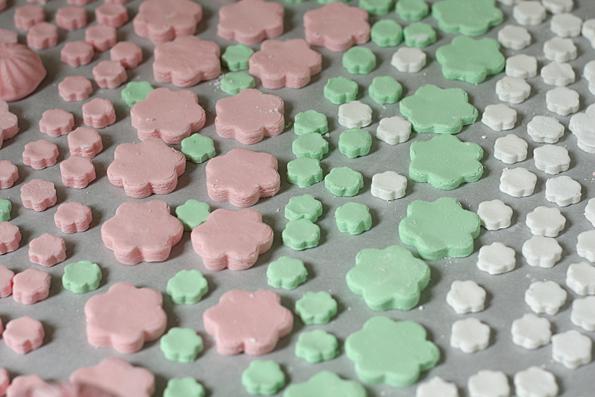 Hinamatsuri candy laying out to dry