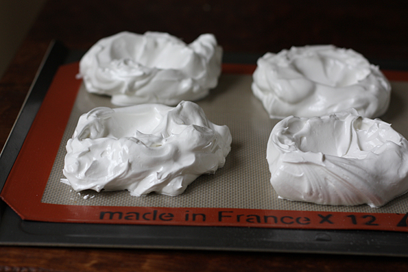 Meringue ready to go into the oven