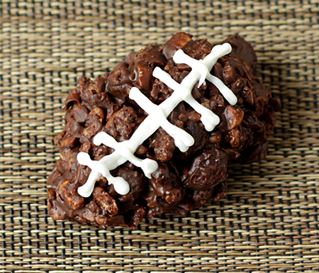 Super Bowl Sunday Chocolate Crunchie Football