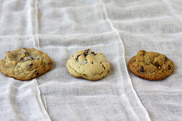 3 versions of the Nestle Toll House Chocolate Chip Cookie Recipe