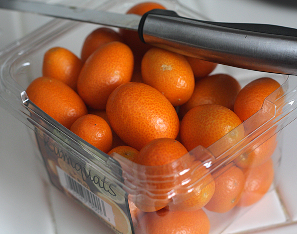 Kumquats ready to be made into kinkan kanro-ni