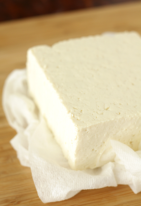 Tofu drained and patted dry