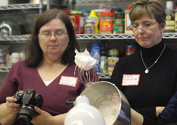Whipped egg whites---like shaving cream
