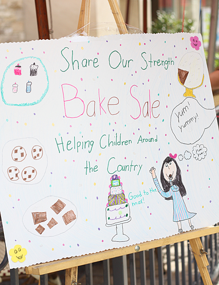 Adorable sign made by daughters of Carrie of Deliciously Organic
