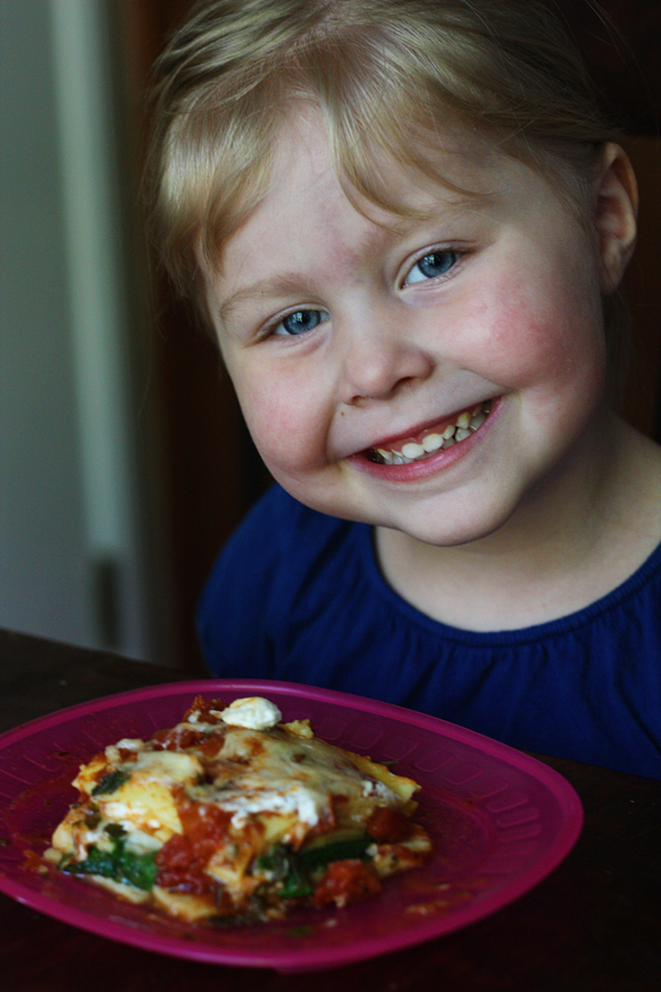 Celebrating the 1st day of preschool with lasagna